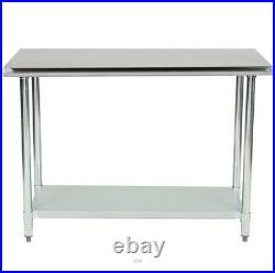 CMI Stainless Steel 24 x 48 NSF Commercial Kitchen Work Food Prep Table