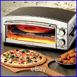 COMMERCIAL PIZZA OVEN Bake Snack Kitchen Countertop Maker Food Stainless Steel