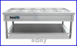 Commercial 10 Pan Stainless steel Warmer kitchen Warmer Catering Warmer