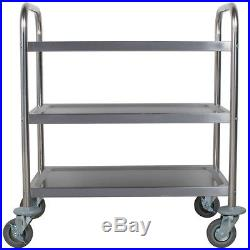 Commercial 16 x 28 Stainless Steel 3 Three Shelf Utility Kitchen Bus Cart NEW
