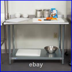 Commercial 24 x 36 Stainless Steel Work Prep Table With Backsplash Kitchen NSF