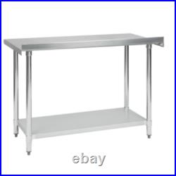 Commercial 24 x 48 Stainless Steel Work Prep Table With 2 Upturn Kitchen NSF