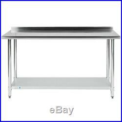 Commercial 24 x 60 Stainless Steel Work Prep Table With BACKSPLASH Kitchen NSF