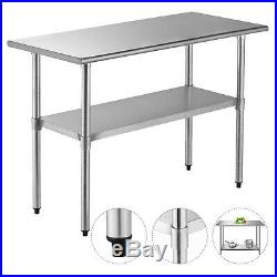 Commercial 24x48 Stainless Steel Prep & Work Table Food Kitchen Restaurant