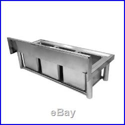 Commercial 304 Stainless Steel Sink Austenitic Triple Bowl 3 Compartment Kitchen