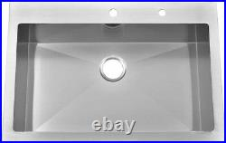 Commercial 33x22x10 Drop-In Kitchen Sink Stainless Steel Single Bowl Extra Deep