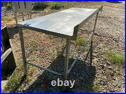 Commercial 72 x 30 Stainless Steel Heavy Duty Work Prep Kitchen Food Table