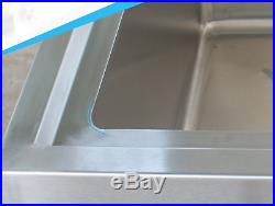 Commercial Catering Kitchen Sink Single Bowl Freestanding 304 Stainless Steel