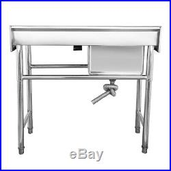 Commercial Catering Stainless Steel Single Bowl Sink Kitchen Handmade Wash Table