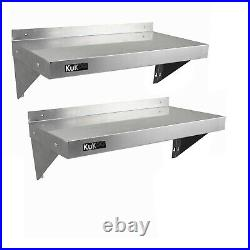 Commercial Catering x 2 Stainless Steel Shelves Kitchen Wall Shelf Metal Unit 12