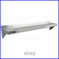 Commercial Catering x 2 Stainless Steel Shelves Kitchen Wall Shelf Metal Unit 15
