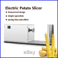 Commercial Electric Automatic Spiral Potato Slicer Twist Fries Stainless Steel