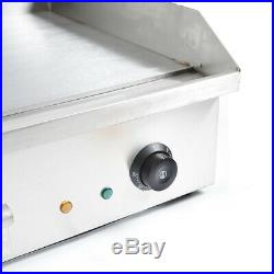 Commercial Electric Griddle Flat Hotplate Kitchen BBQ Grill Stainless Steel
