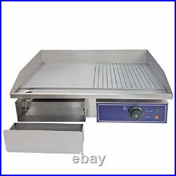 Commercial Electric Griddle Flat Top Grill Hot Plate Stainless Steel Kitchen Gr