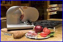 Commercial Electric Meat Food Slicer Steel 7.5 Blade Cheese Cutter Kitchen Tool