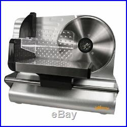 Commercial Electric Meat Food Slicer Steel Cheese Cutter Kitchen Tool 7.5 Blade