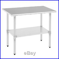 Commercial Food Prep Work Table 24x36 Kitchen Restaurant Stainless Steel NSF