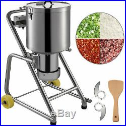 Commercial Food Processor Kitchen Fritter 1400RPM Food Processor Stainless Steel