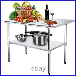 Commercial Kitchen 24 x 48 Stainless Steel Work Food Prep Table Counter USA