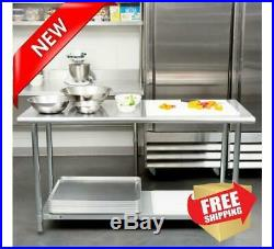 Commercial Kitchen 24 x 60 Stainless Steel Work Food Prep Table NSF Counter