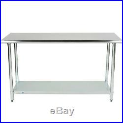 Commercial Kitchen 24 x 60 Stainless Steel Work Food Prep Table NSF Counter NEW