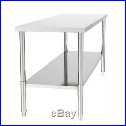 Commercial Kitchen 30 x 72 Stainless Steel Work Food Prep Table NSF Counter