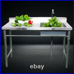 Commercial Kitchen Sink Stainless Steel Catering Bowl Handmade Wash Cleaning USA