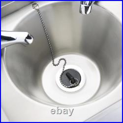 Commercial Kitchen Stainless Steel Hand Wash Basin Sink & Taps 305Wx268Dx165Hmm