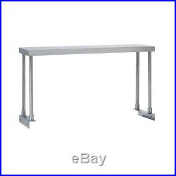 Commercial Kitchen Stainless Steel Single Overshelf for Work Tables 12X48