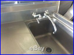 Commercial Kitchen Stainless Steel Vegetable Sink withFaucet Free Standing