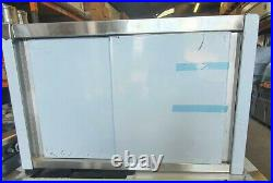 Commercial Kitchen Storage Wall Cabinet Sliding Doors Spices Shelves 1 mt S/S