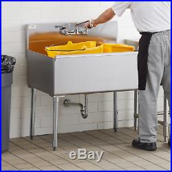 Commercial Kitchen Utility Sink Stainless Steel 36 x 24 x 14 Bowl 16 Gauge
