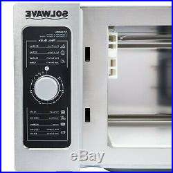 Commercial Microwave Indoor Kitchen Dial Control Light Duty Stainless Steel