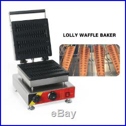 Commercial Nonstick 4PCS Lolly Waffle Maker Baking Iron Machine Stainless Steel