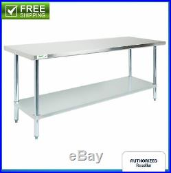 Commercial Prep Table Kitchen Stainless Steel 30 x 72 NSF Work Food Counter