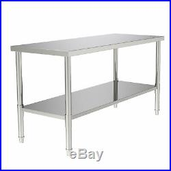 Commercial Prep Work Table Food Kitchen Restaurant 24 x 60 Stainless Steel