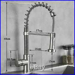 Commercial Single Handle 18-Inch Commercial Kitchen Faucet Stainless Steel Tap