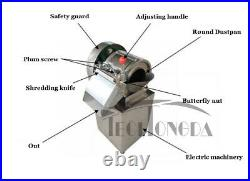 Commercial Stainless Steel Electric Vegetable Cutter Slicer Machine Kitchen 110V