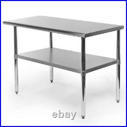 Commercial Stainless Steel Kitchen Food Prep Work Table 24 x 48