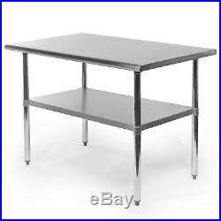Commercial Stainless Steel Kitchen Food Prep Work Table 30 x 48
