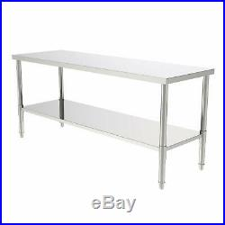 Commercial Stainless Steel Work Table Food Prep Kitchen Restaurant Home Silver