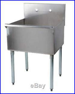 Commercial Utility Sink One Compartment Stainless Steel Restaurant Kitchen NEW