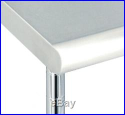 Commercial-grade Nsf Stainless Steel Top Worktable, 49 W X 24 D