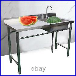 Compartment Stainless Steel Cabinets Commercial Kitchen Prep Sink Wash Table USA