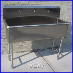 Custom Made Hand Sink Commercial Stainless Steel Kitchen Sink Size 3 Feet