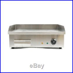 Electric Countertop Griddle 3KW Commercial Restaurant Kitchen Flat Top Grill BBQ