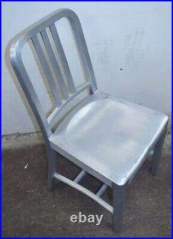 Emeco 1006 Navy Chair Brushed Aluminum Commercial Outdoor Chair