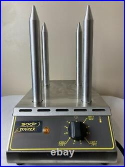 Equipex Sodir HD4 Bun Toaster Commercial Kitchen Spike Stainless Steele France