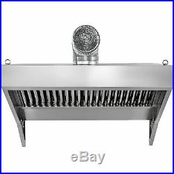 Food Truck Trailer Concession Hood 4'x30 Commercial Kitchen 430 Stainless Steel