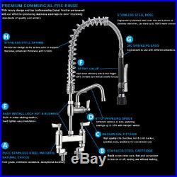 Full Stainless Steel Faucets Commercial Kitchen Faucet Pull Down Sprayer T-D06C